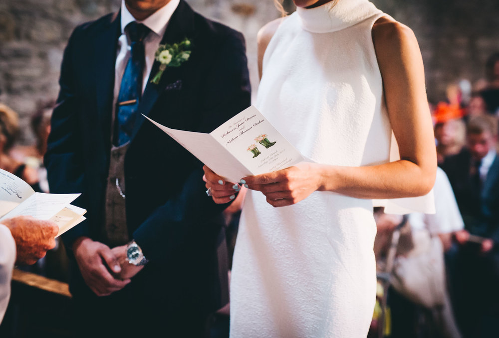 wedding photography in the north west - church ceremony
