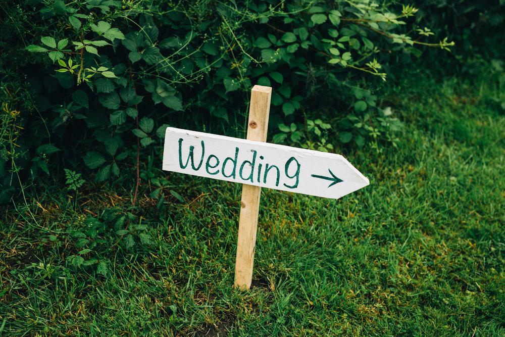 boho inspired wedding day - signs