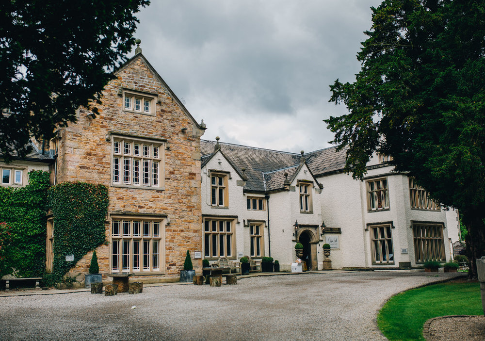 exterior image of Mitton Hall - a luxury Ribble Valley wedding venue