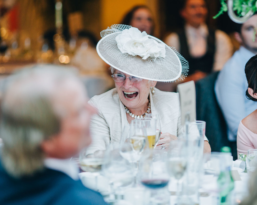 grandma laughing - MItton hall wedding pictures