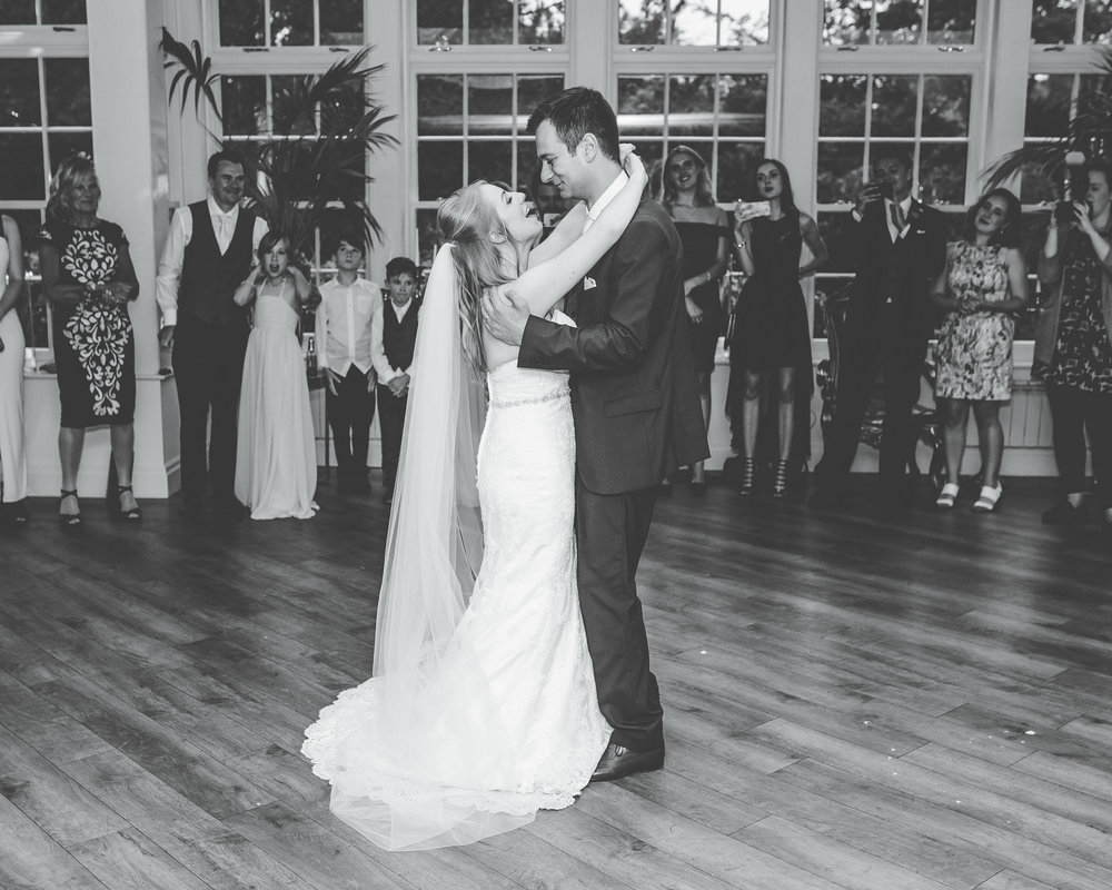 couple have their first dance at Mitton Hall
