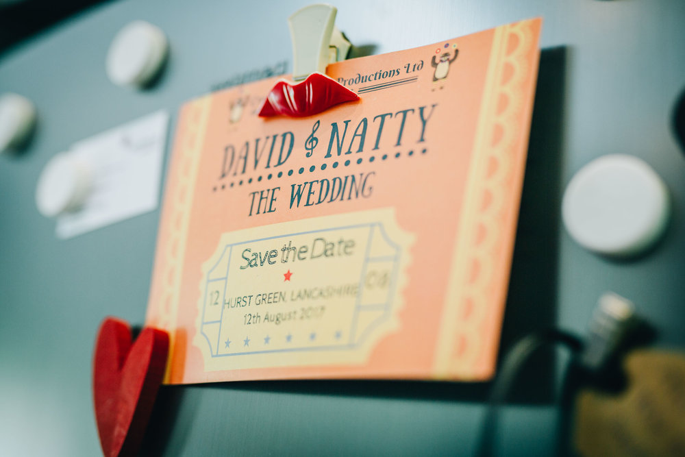 wedding invites - circus themed wedding in lancashire