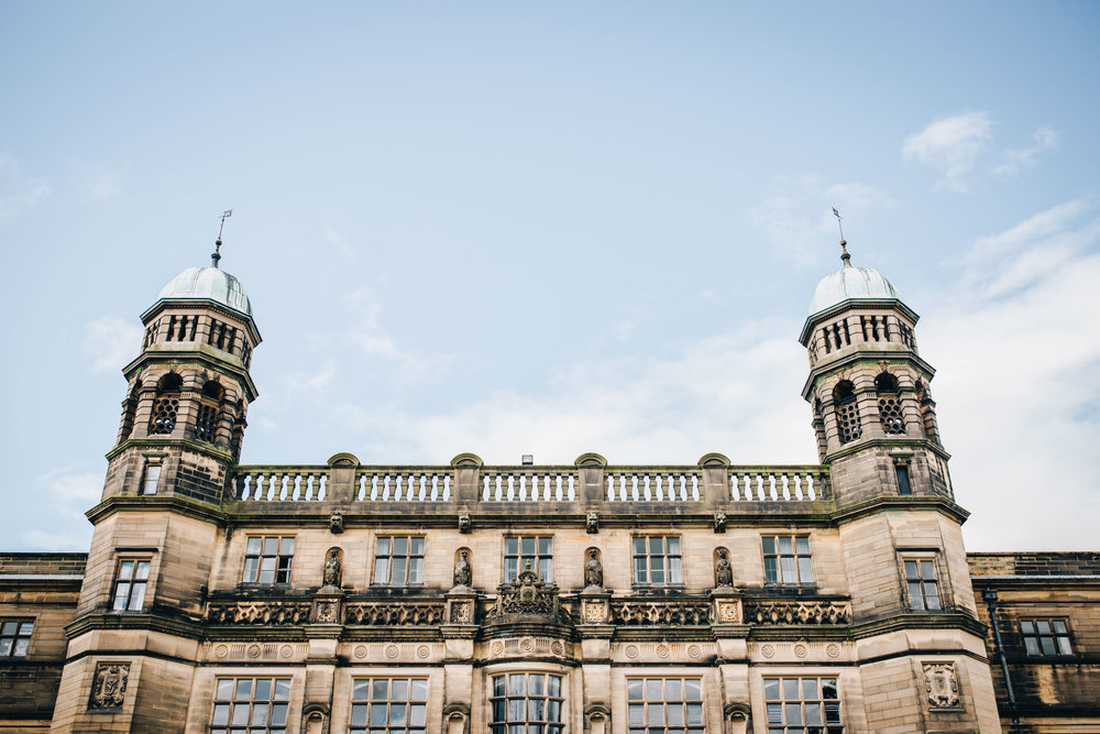 exterior view of Stonyhurst college - wedding venue in Lancashire