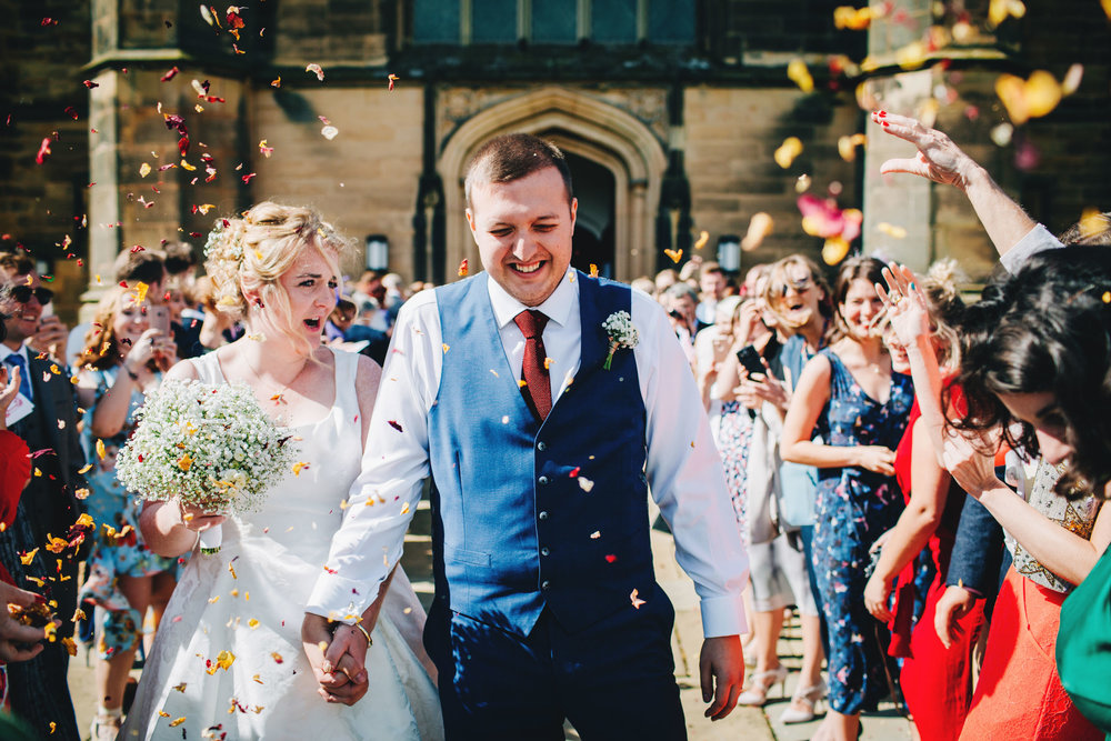 fun and relaxed wedding at Stonyhurst college