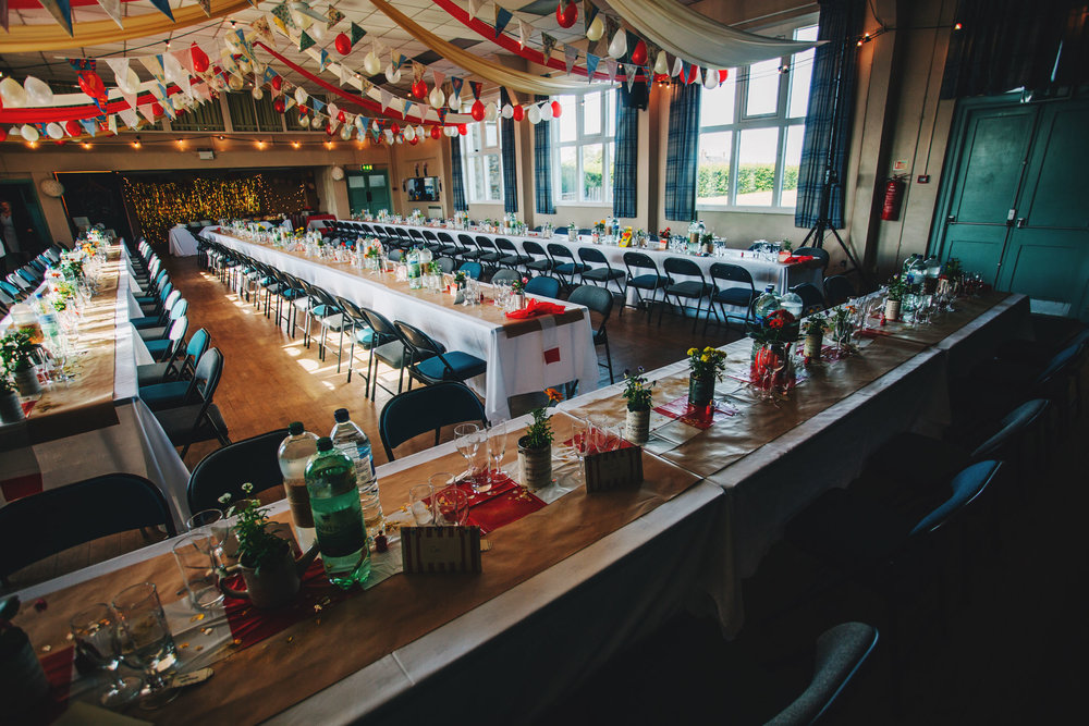 a carnival themed wedding in lancashire