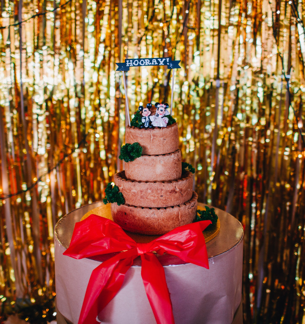 alternative to a wedding cake - pork pie tower