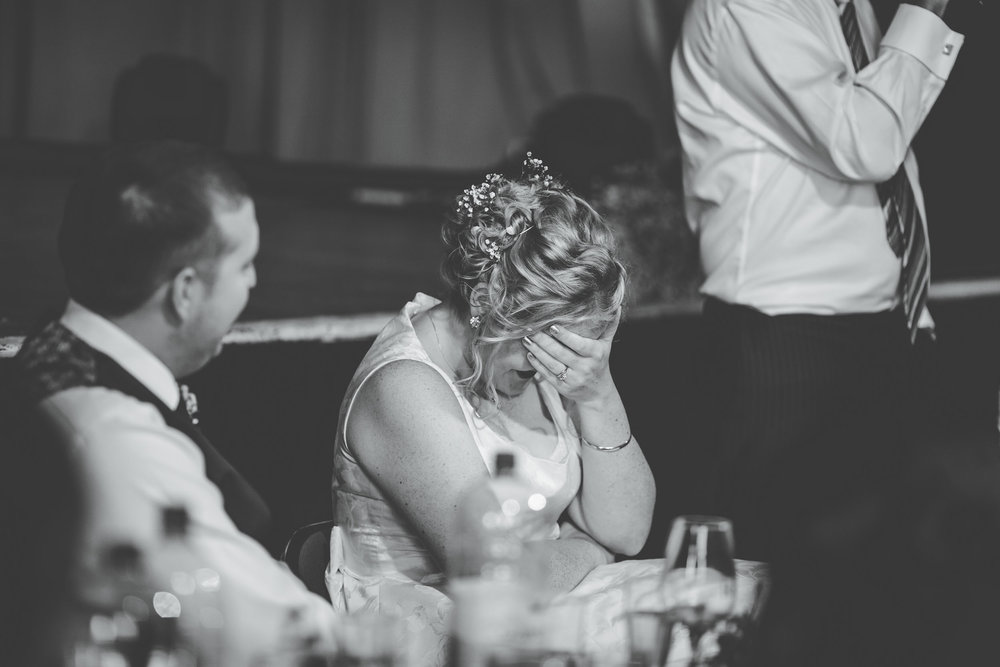 reactions to speeches - candid wedding photography