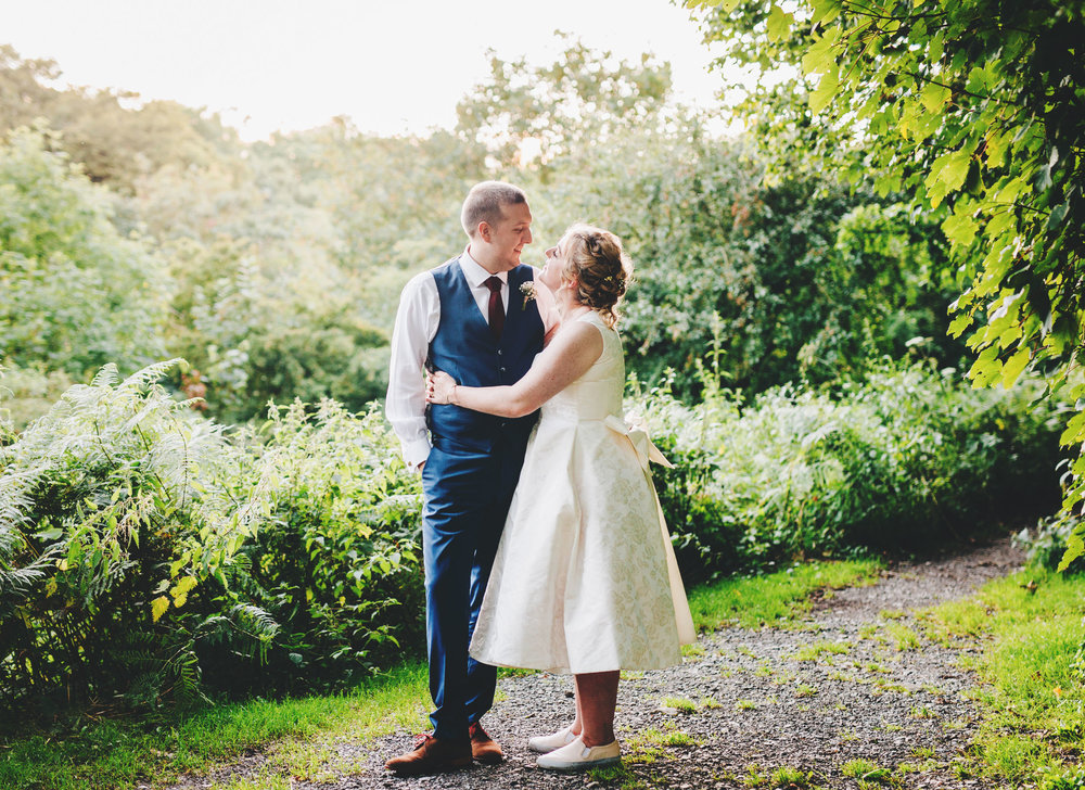 golden hour portraits with relaxed couple - wedding photography lancashire
