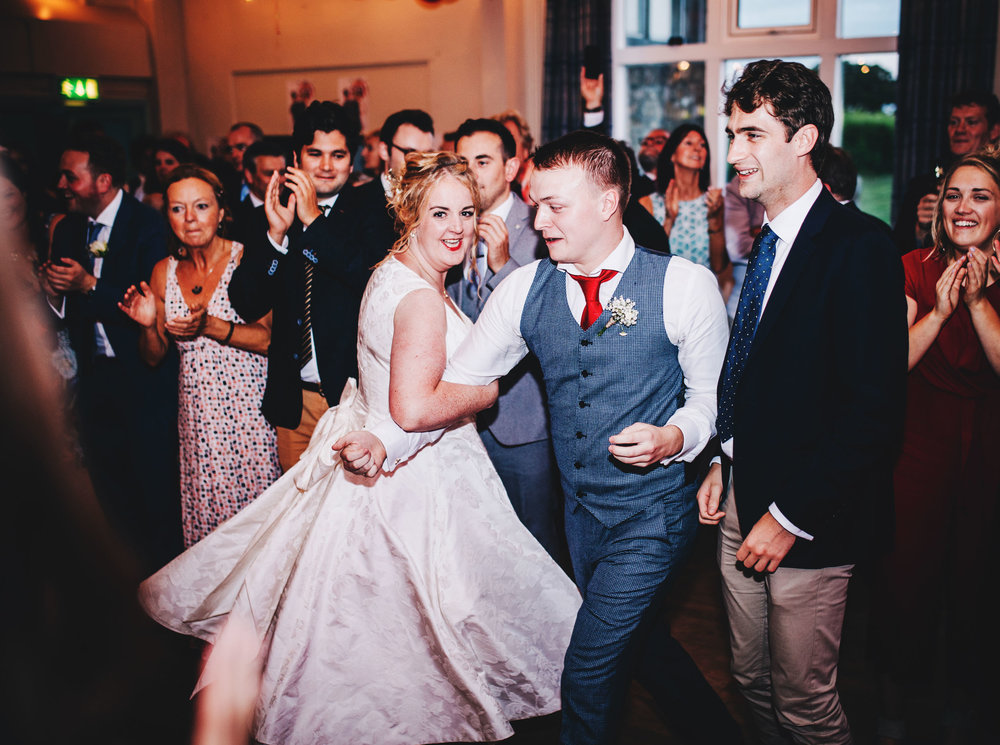 fun and relaxed wedding photographer in lancashire - dancing time!