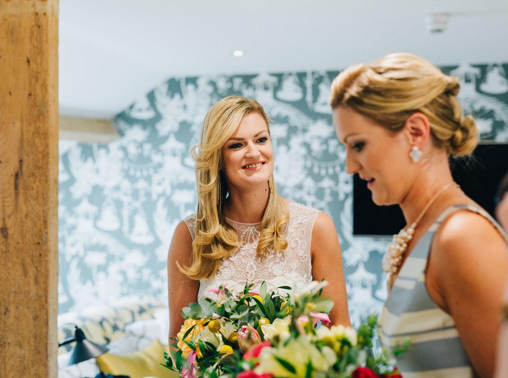 natural images of the bride - wedding at swan newby bridge