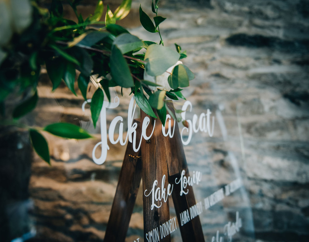 seating plan - stylish wedding in the lakes