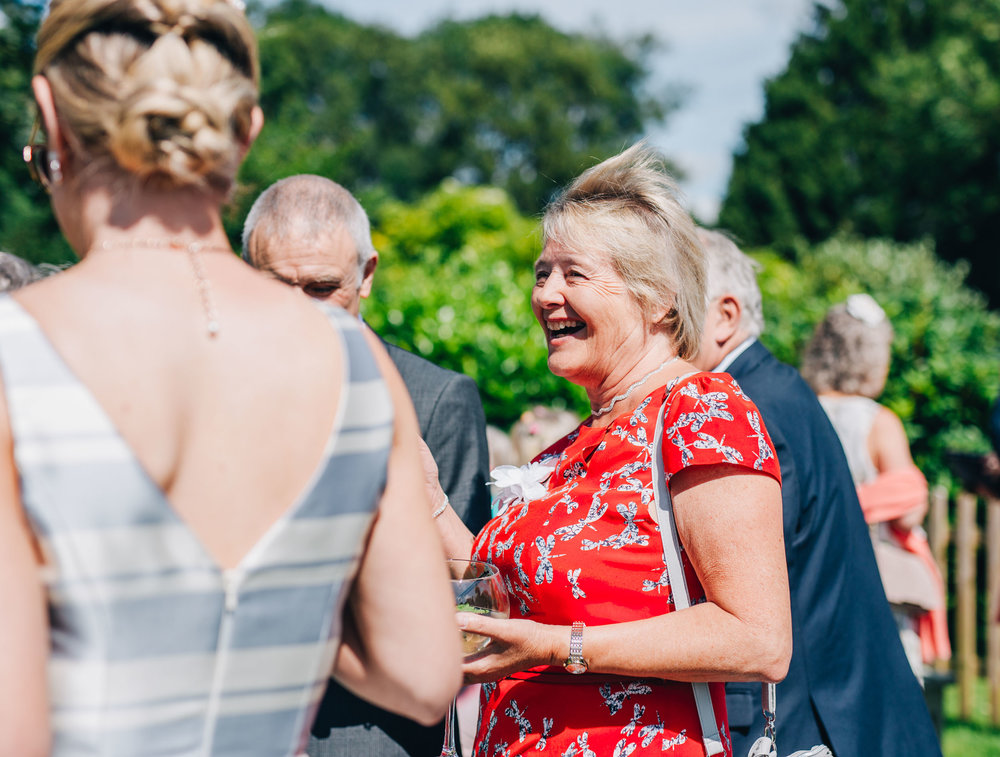 documentary shots of guests enjoying the wedding - Swan at Newby Bridge wedding