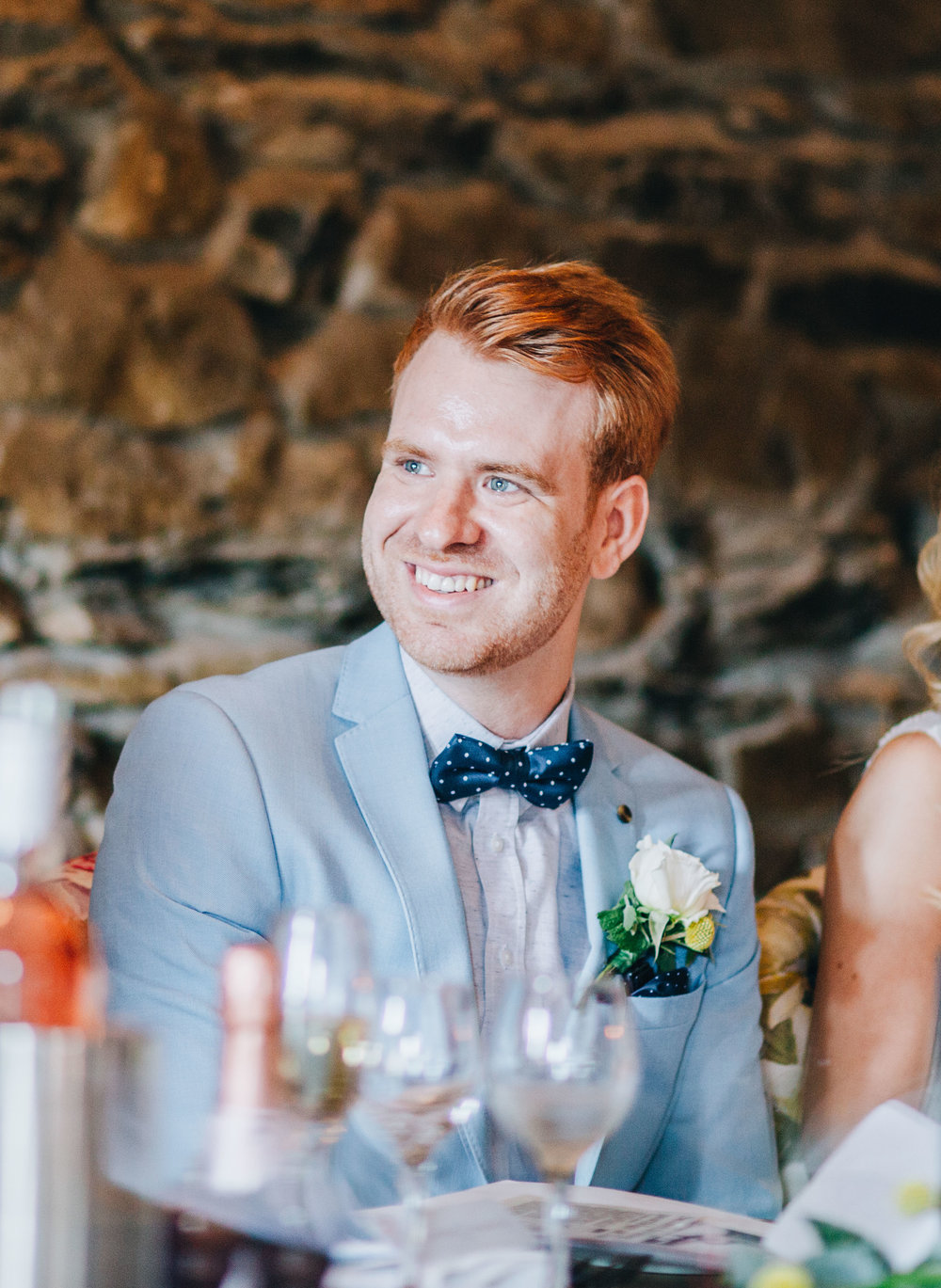 groom gets a bit emotional during speeches