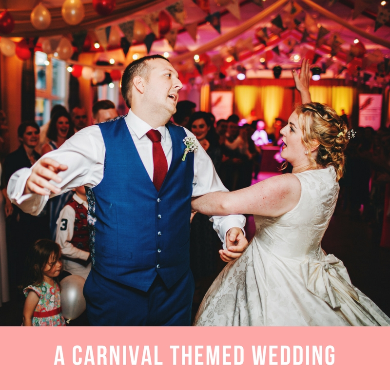 carnival themed wedding lancashire