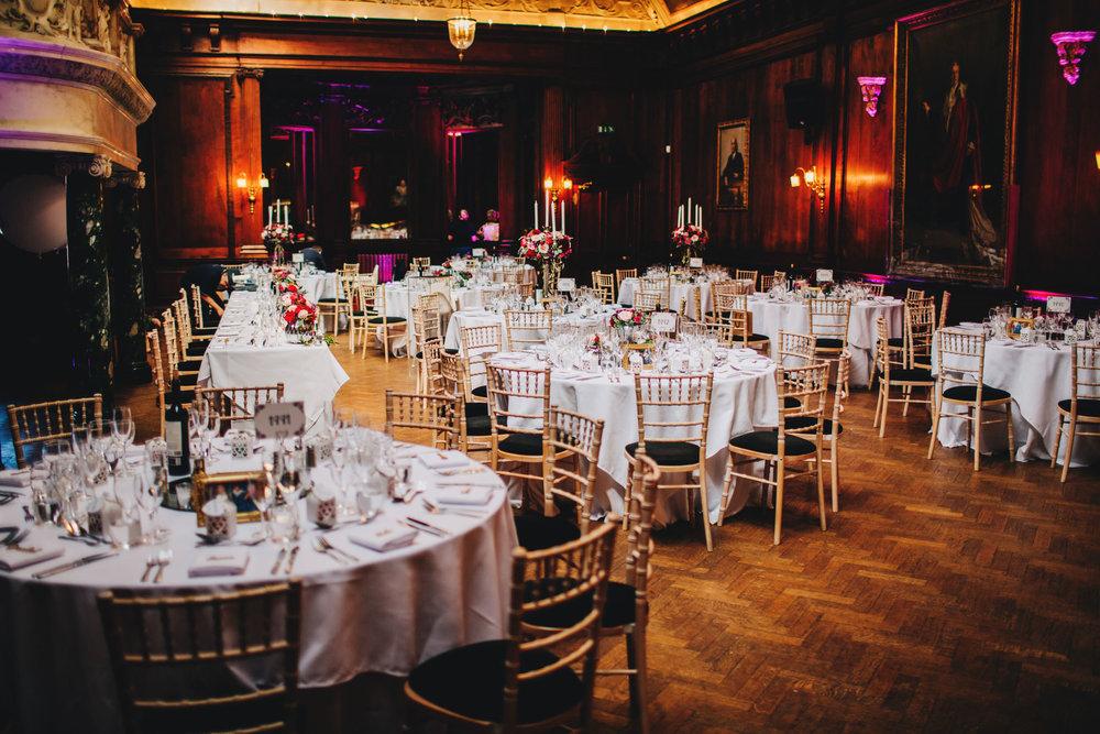details - room set up for wedding at Thornton Manor