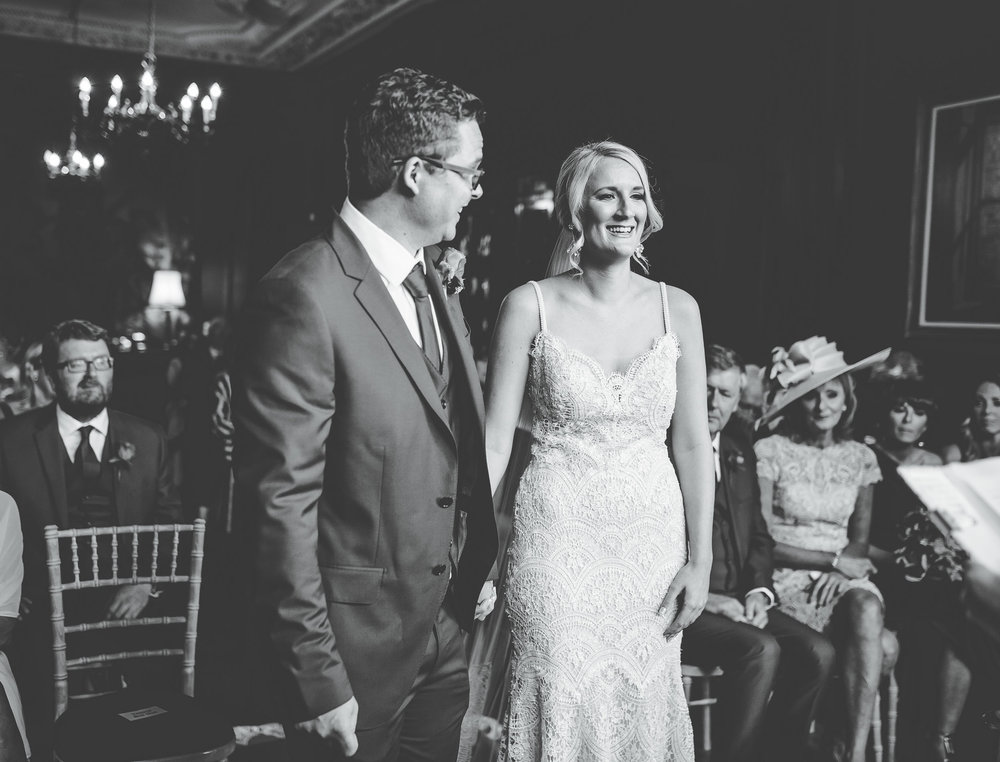 smiling and laughing - natural wedding pictures