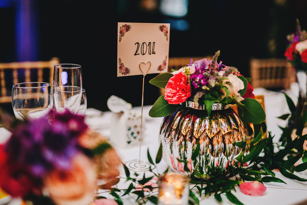 flowers and table decorations in cheshire