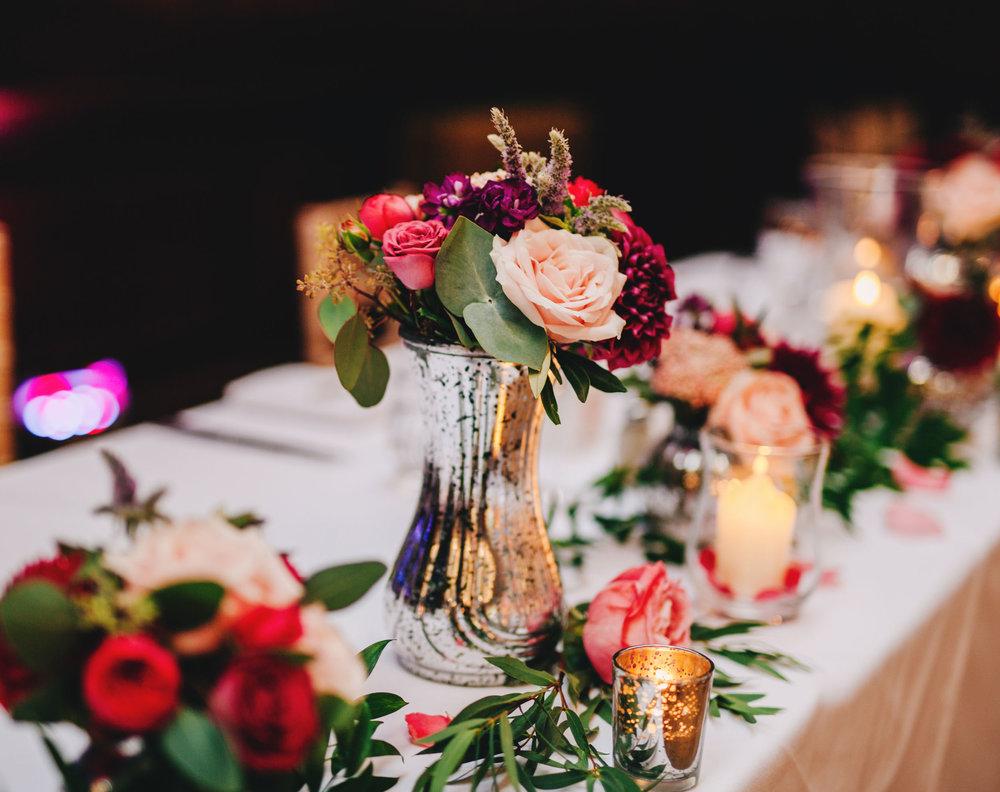 beautiful table settings at thornton manor wedding