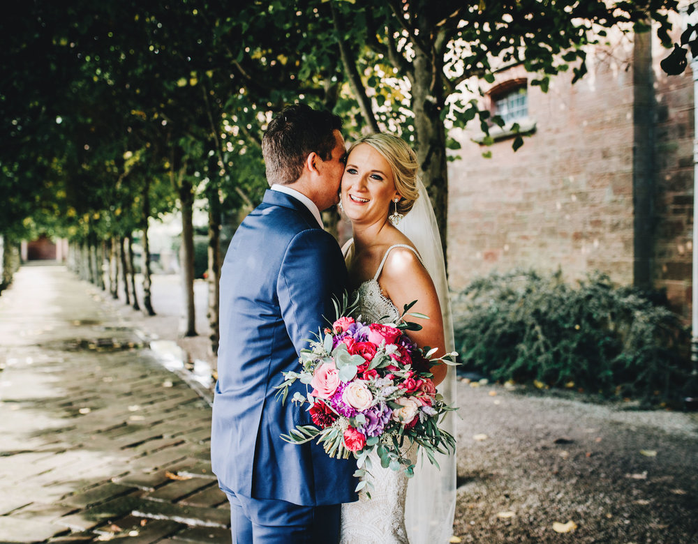 relaxed portraits at Thornton Manor cheshire wedding photography