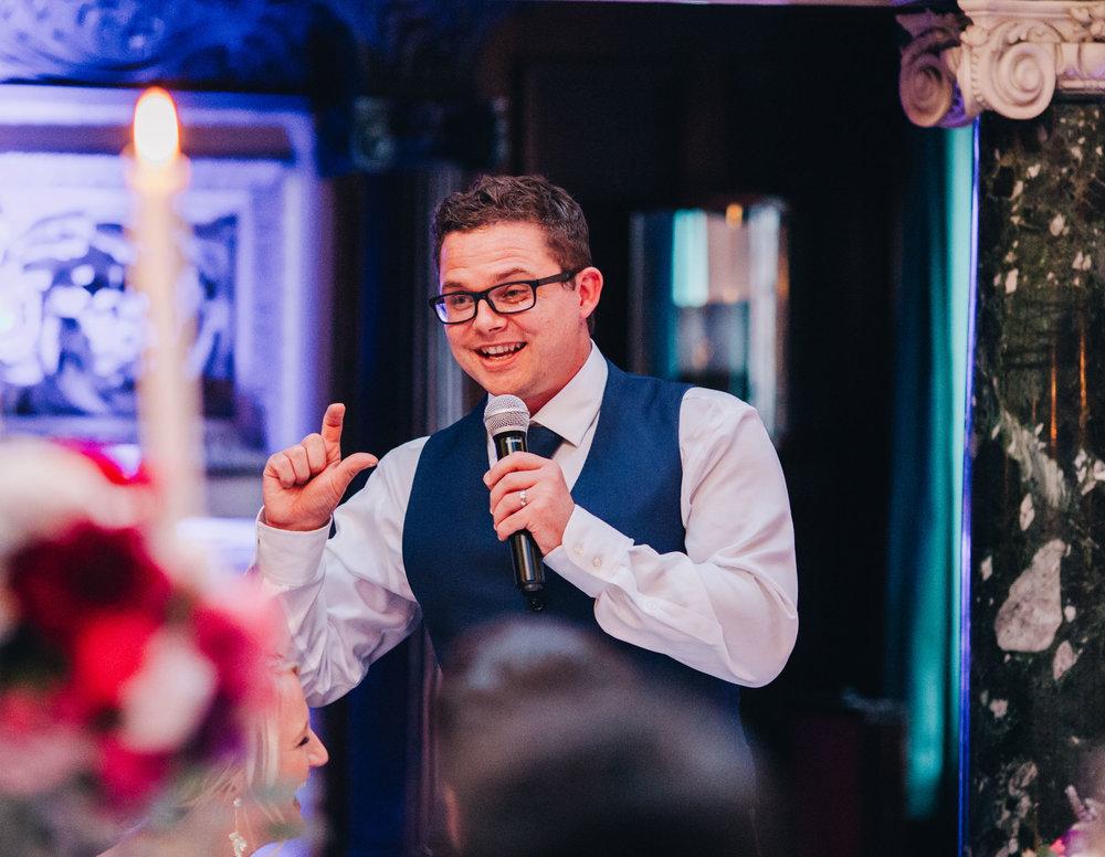groom's speech at Thornton Manor