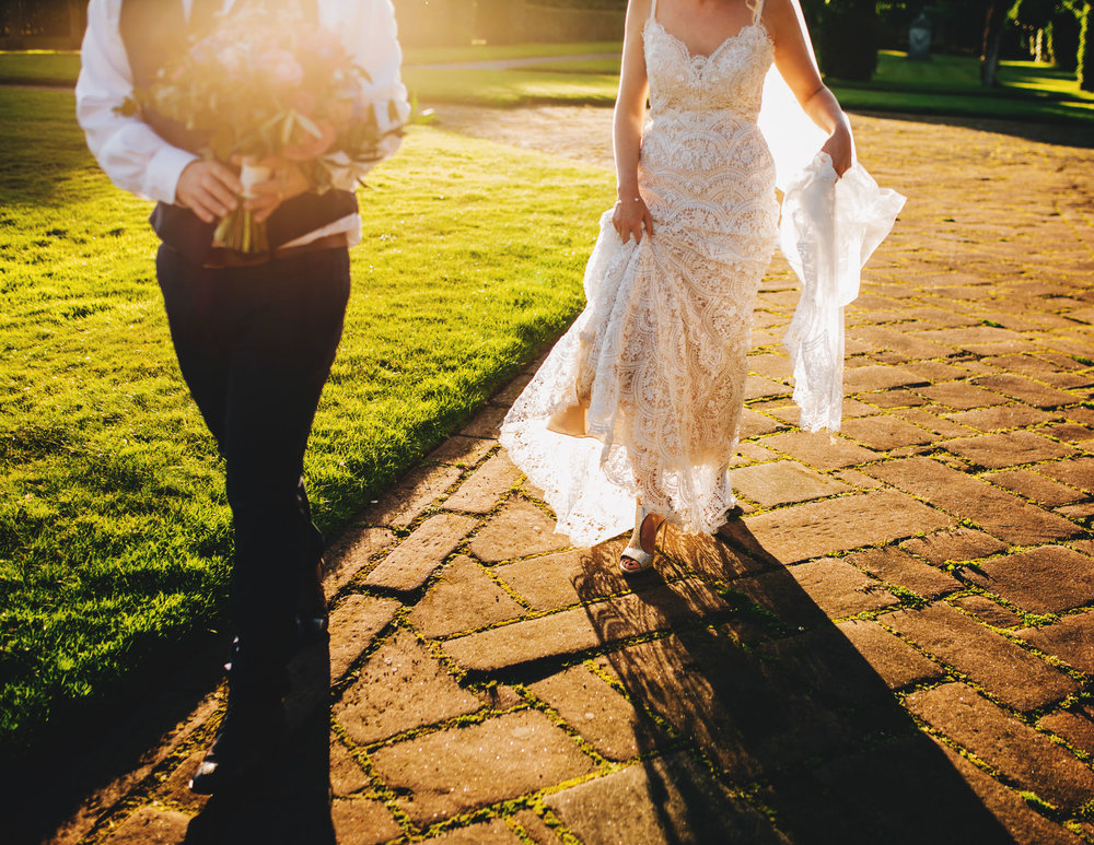 sunset pictures in cheshire - thornton manor wedding