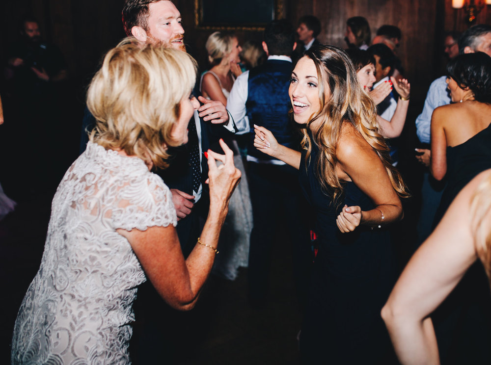 guests dancing at cheshire wedding