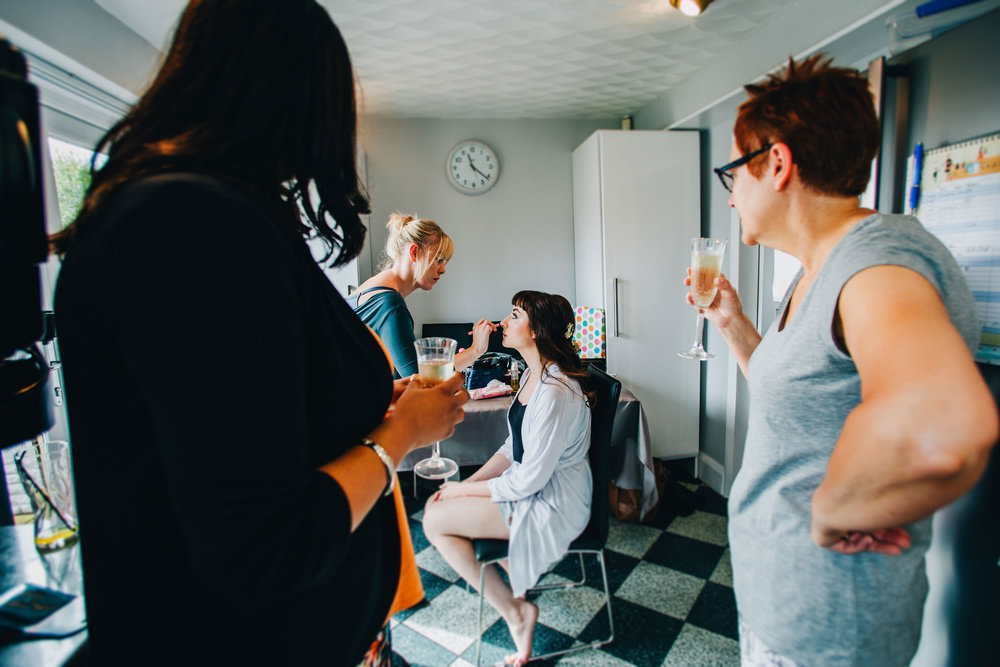 bride getting ready - fun liverpool wedding