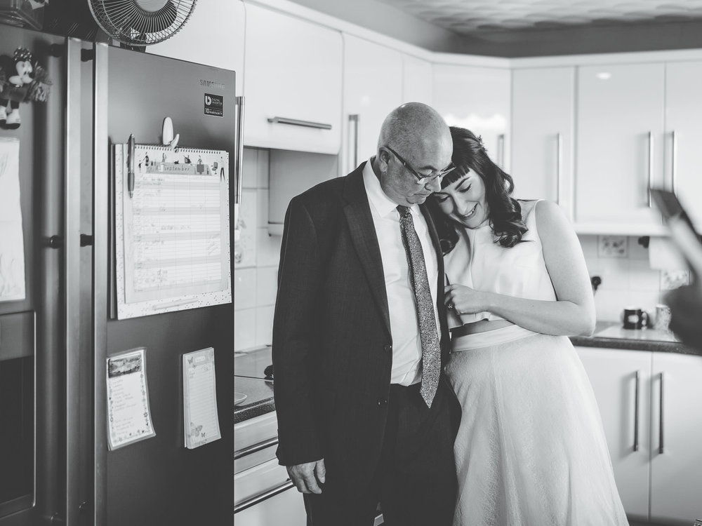 sweet bride and father moment - natural wedding photography