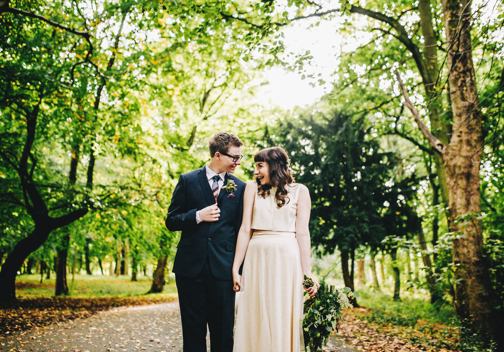 fun and relaxed portraits in the park  - liverpool wedding photography