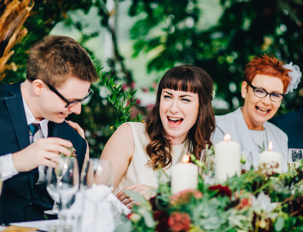 bride laughing - liverpool documentary wedding photographer
