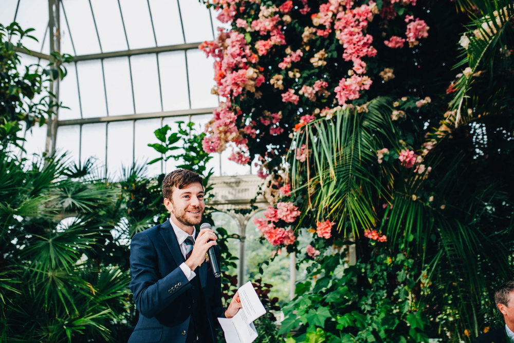 best man's speech - sefton palm house