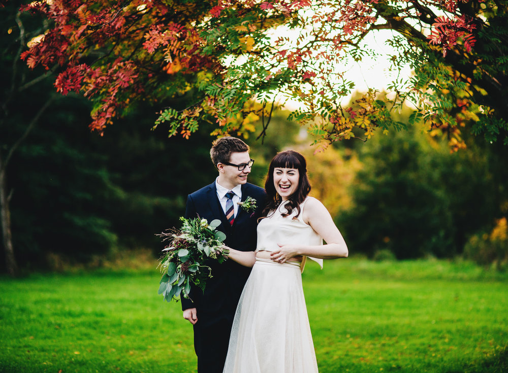 evening portraits in sefton park - liverpool wedding photographer