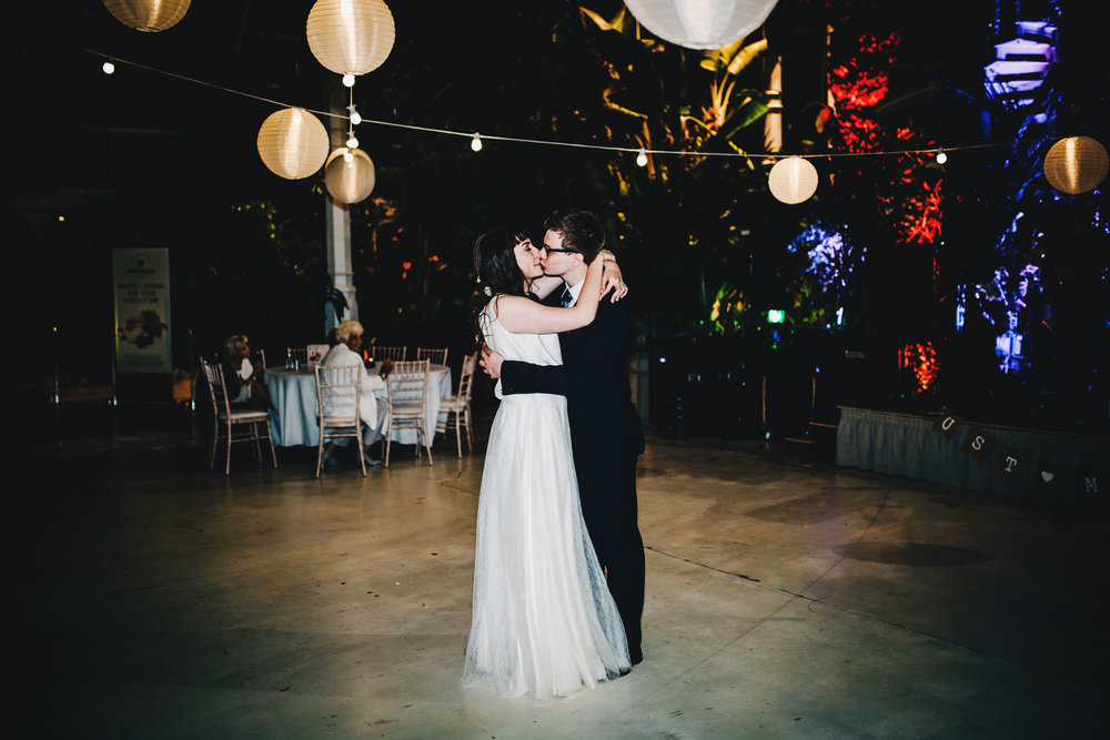 first dance at sefton palm house - liverpool wedding photographer