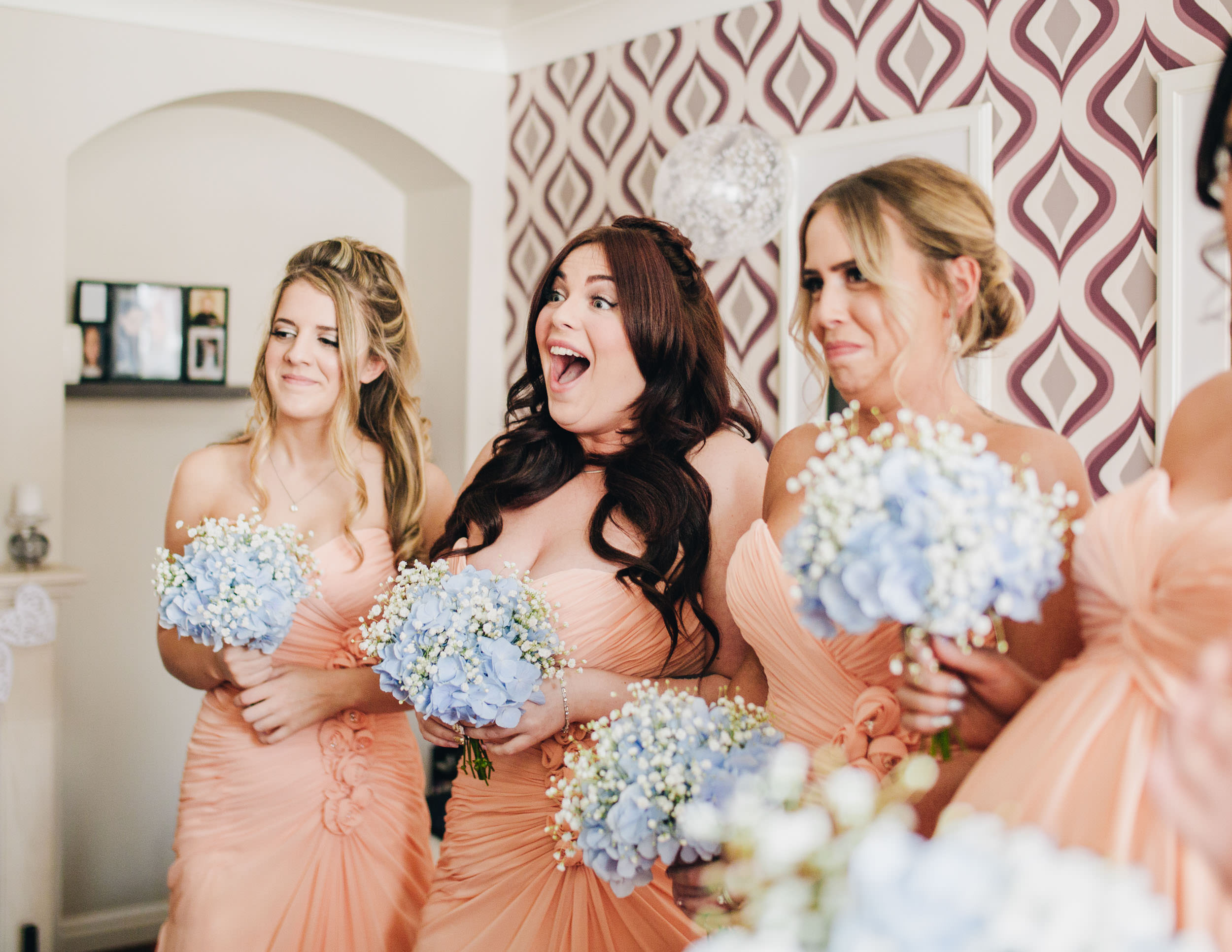 bridesmaids reaction to seeing the bride
