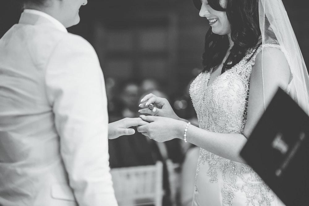 exchanging rings at Styal lodge