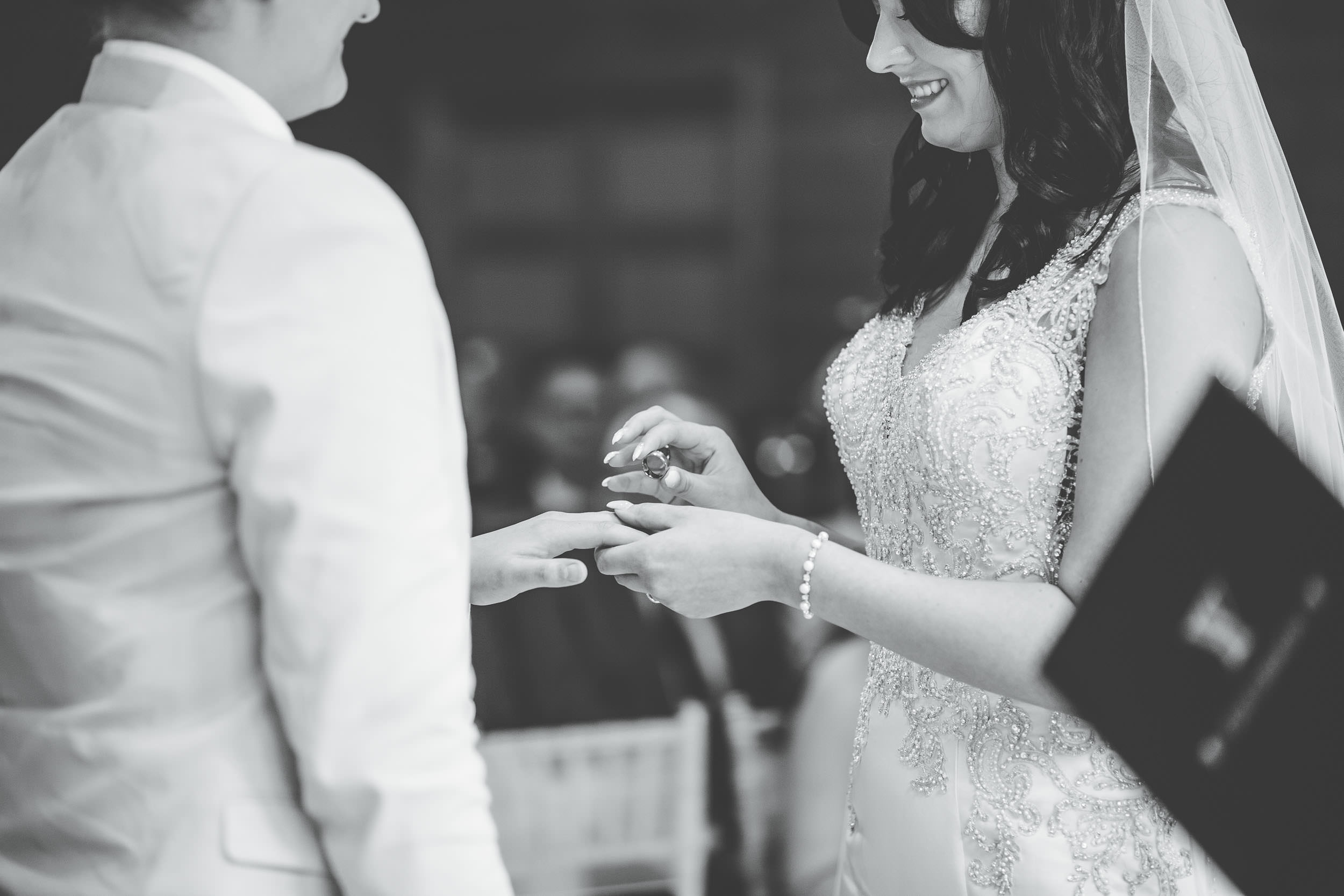 exchanging rings at a wedding day