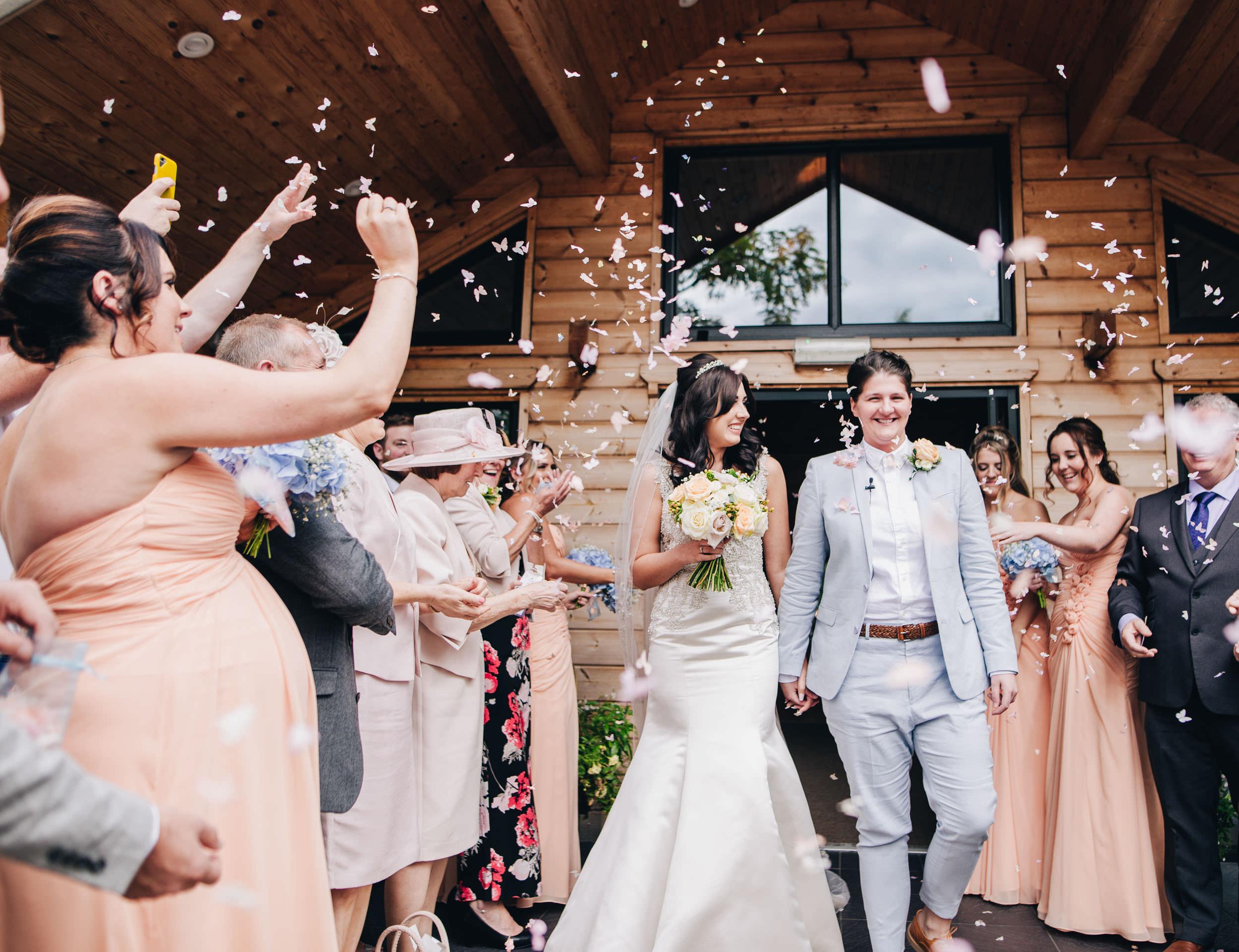 Confetti - same sex wedding cheshire
