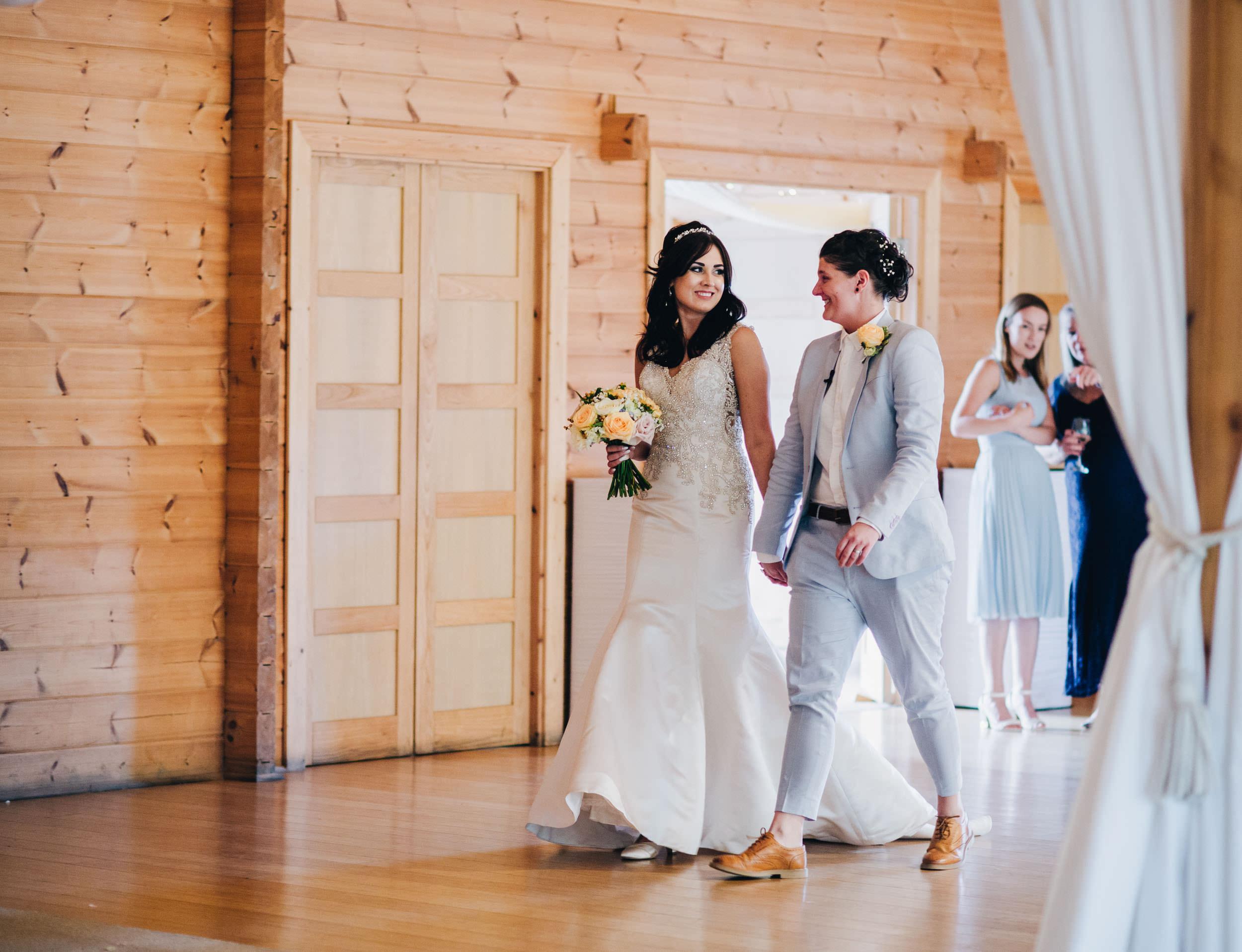 same sex wedding at Styal Lodge
