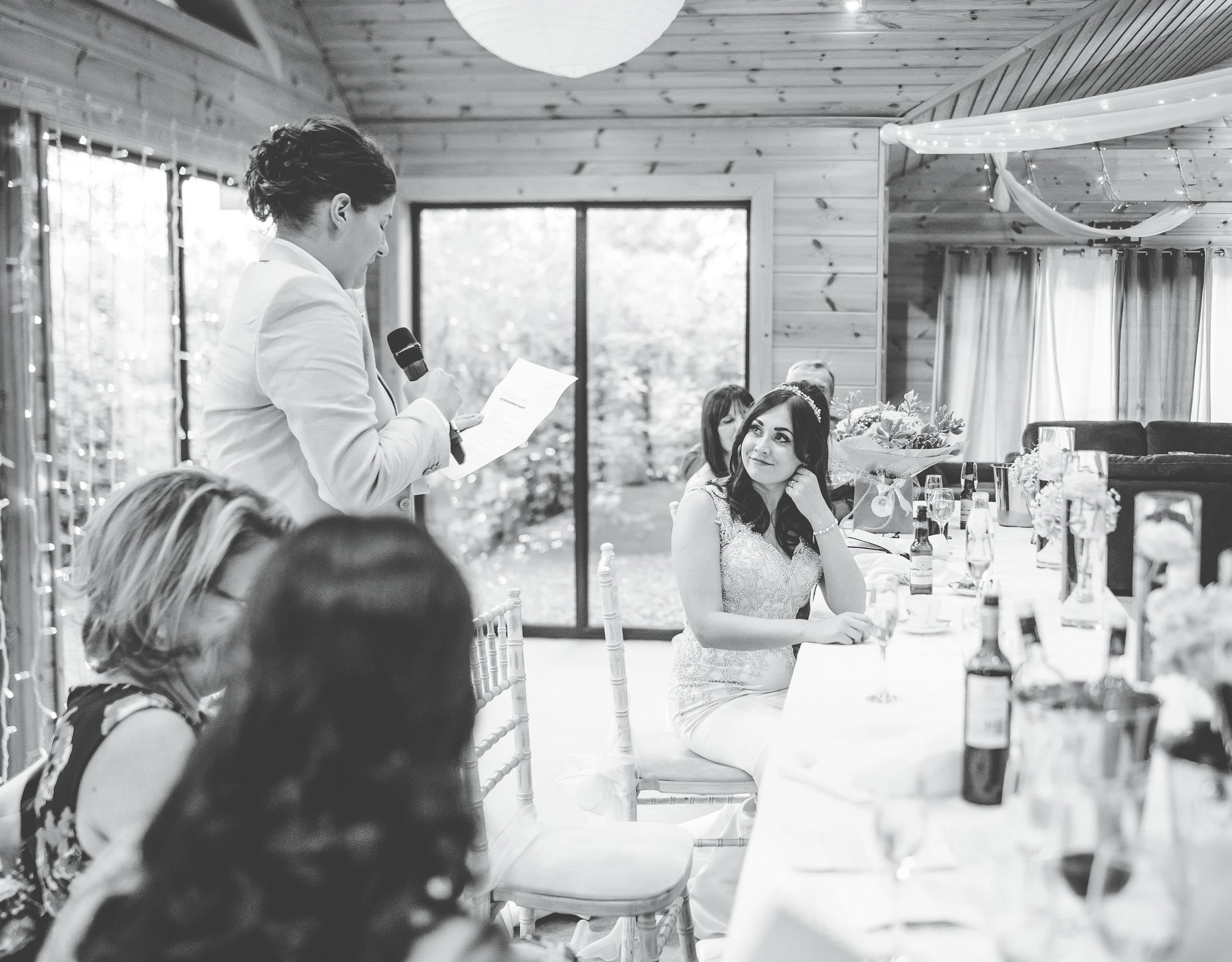 same sex wedding Cheshire - speeches
