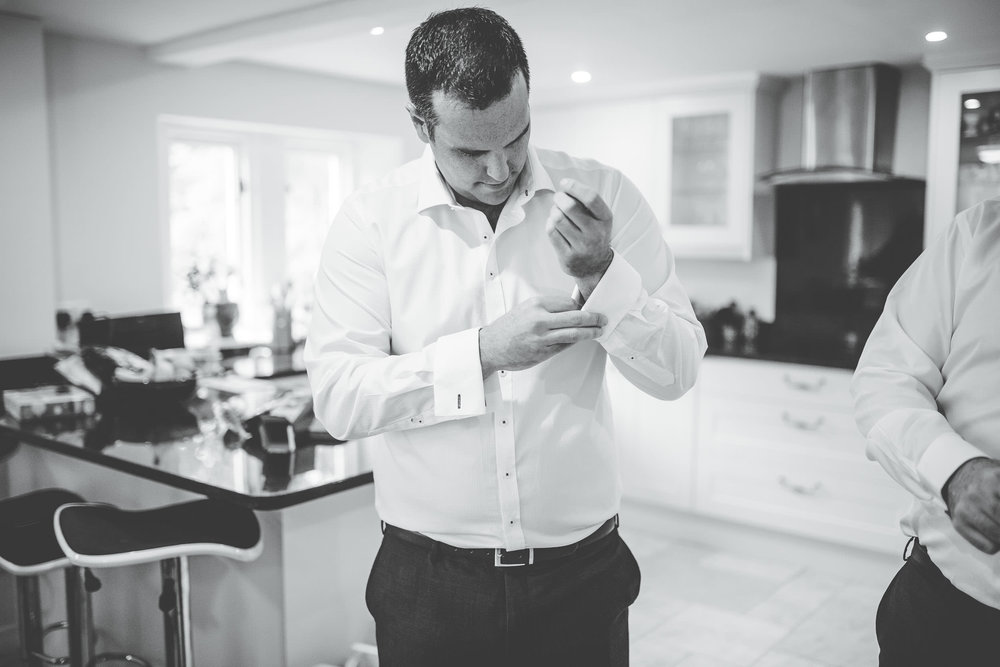 groom getting ready - Lake District wedding