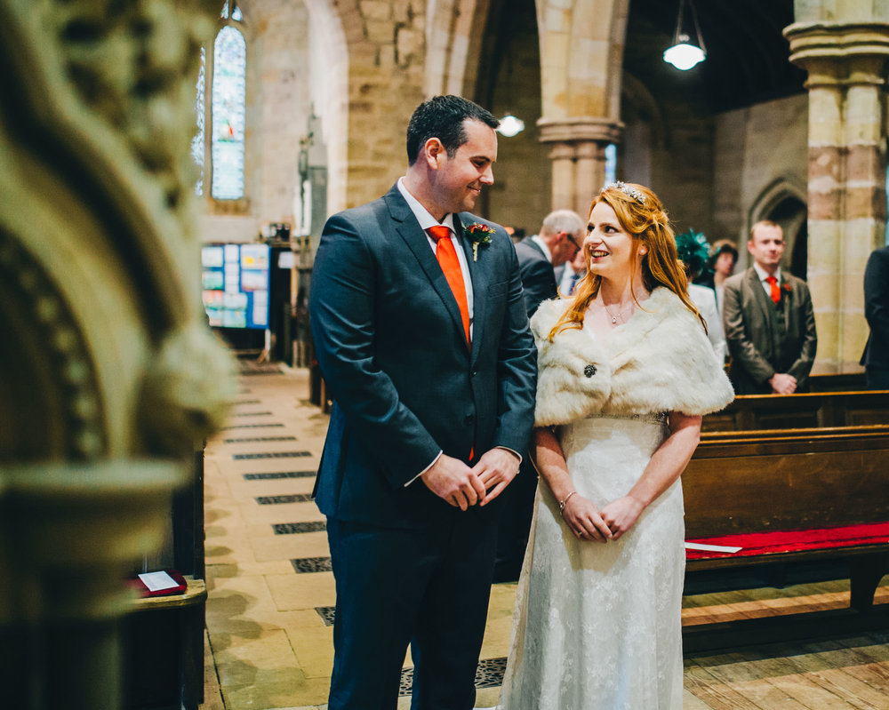 natural wedding photography - Lake District church ceremony