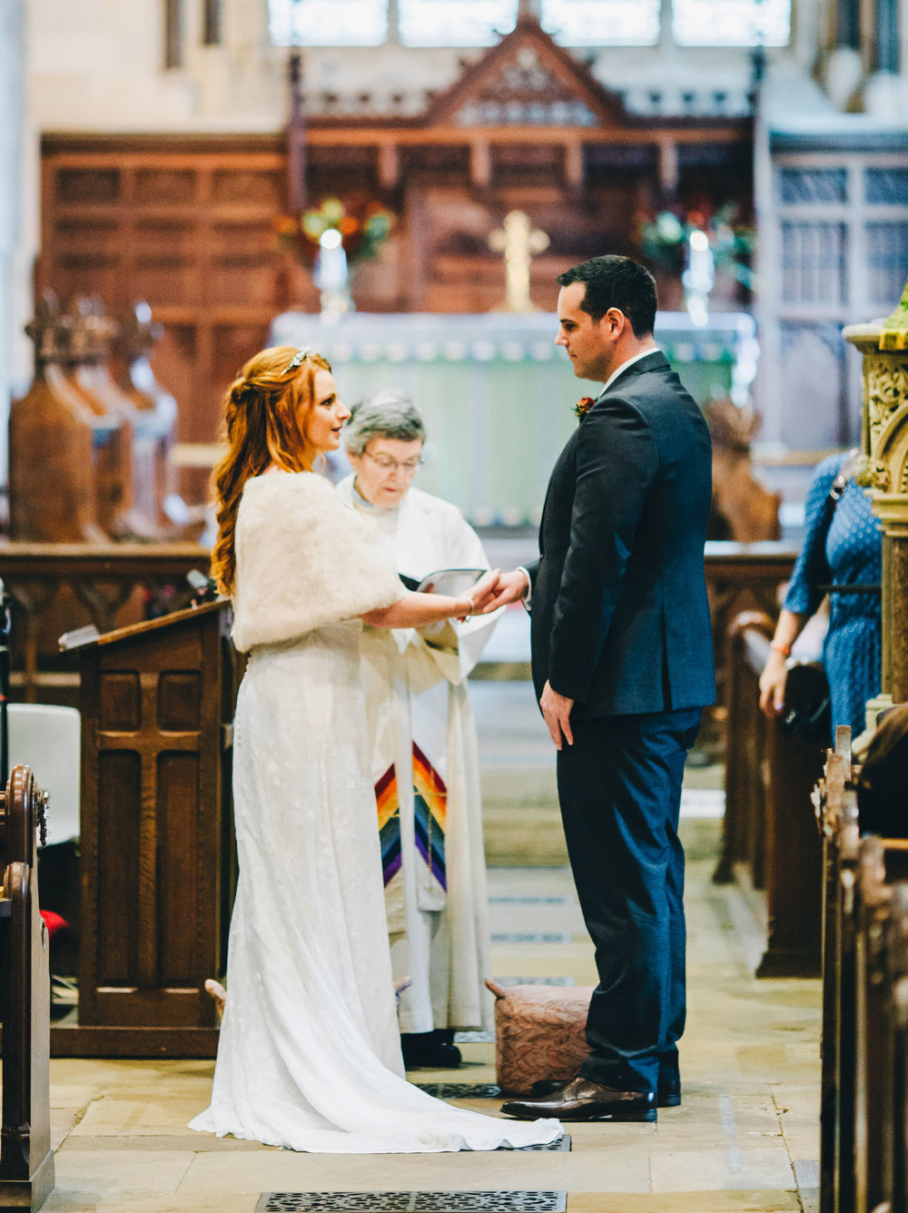 exchanging vows - wedding photography Lake District