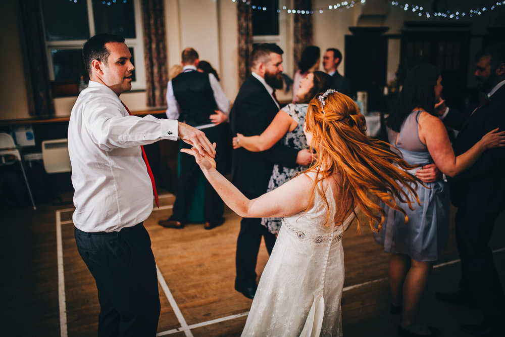 documentary wedding pictures - Lake District dancing