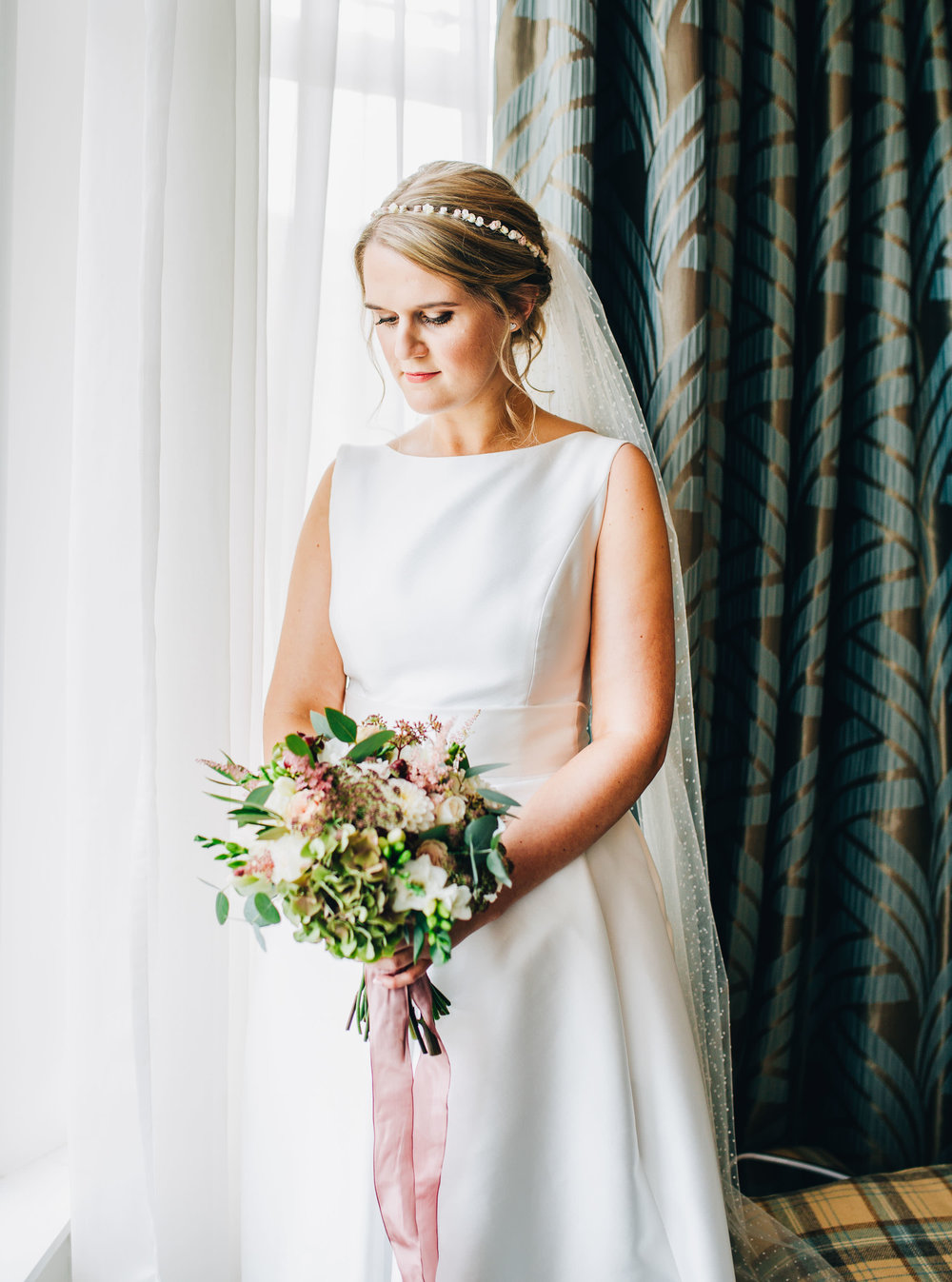 portrait of bride - lake district wedding photographer