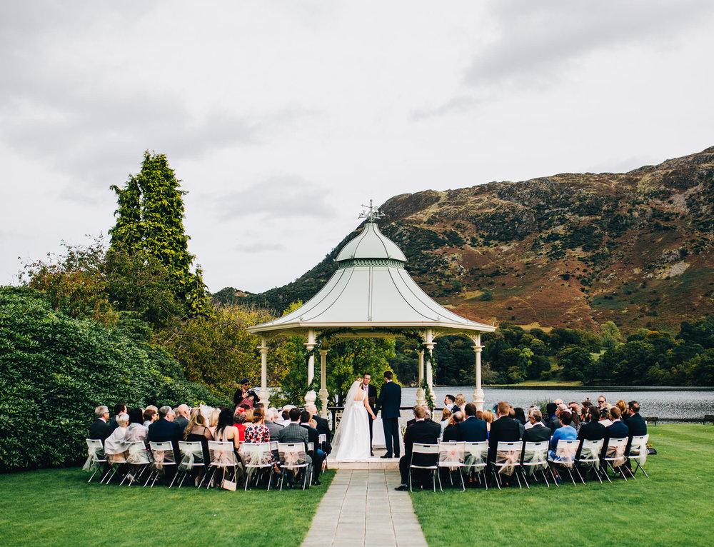 lake district wedding photographer - outsdoor ceremony