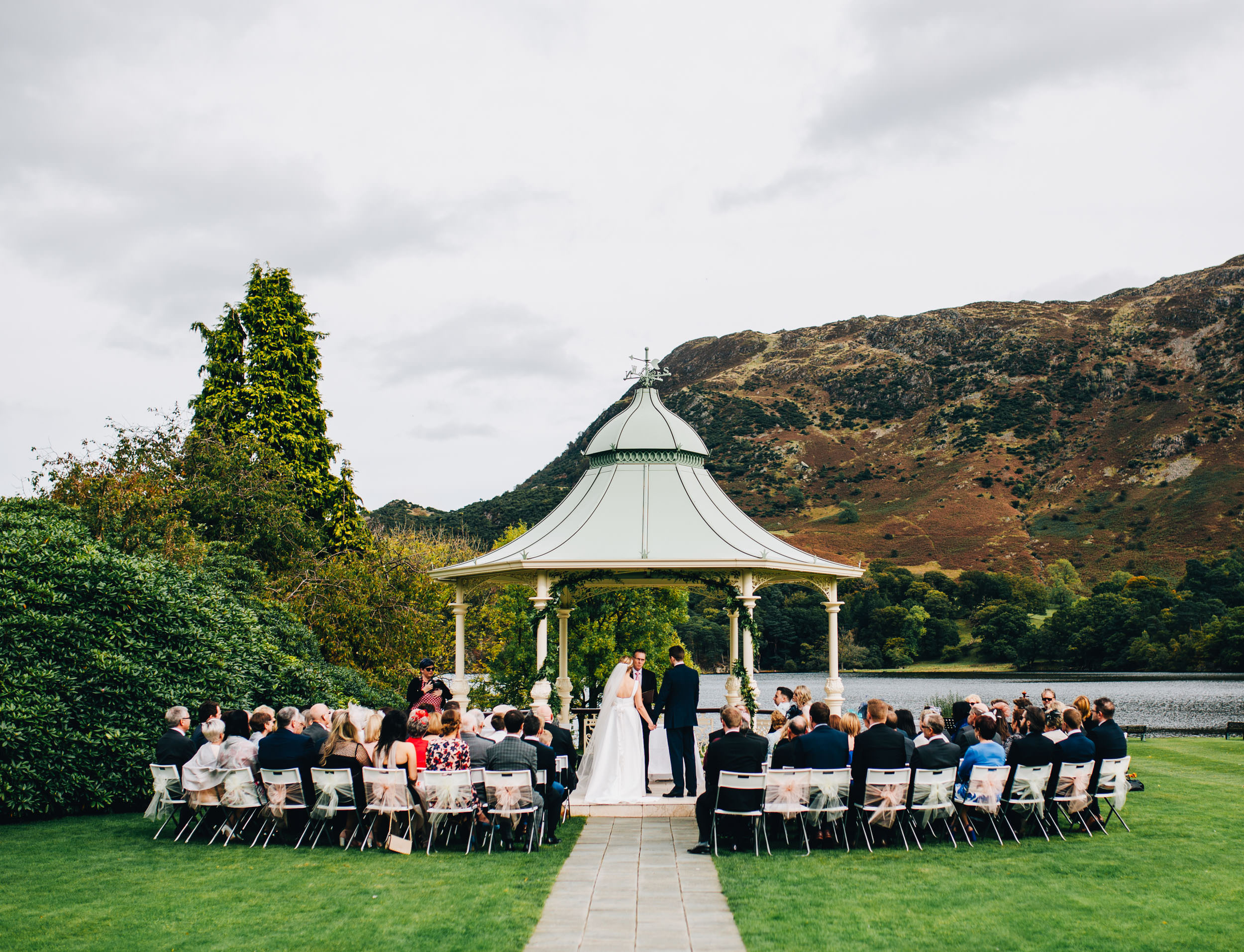 The Inn on the Lake - beautiful backdrop for a wedding ceremony