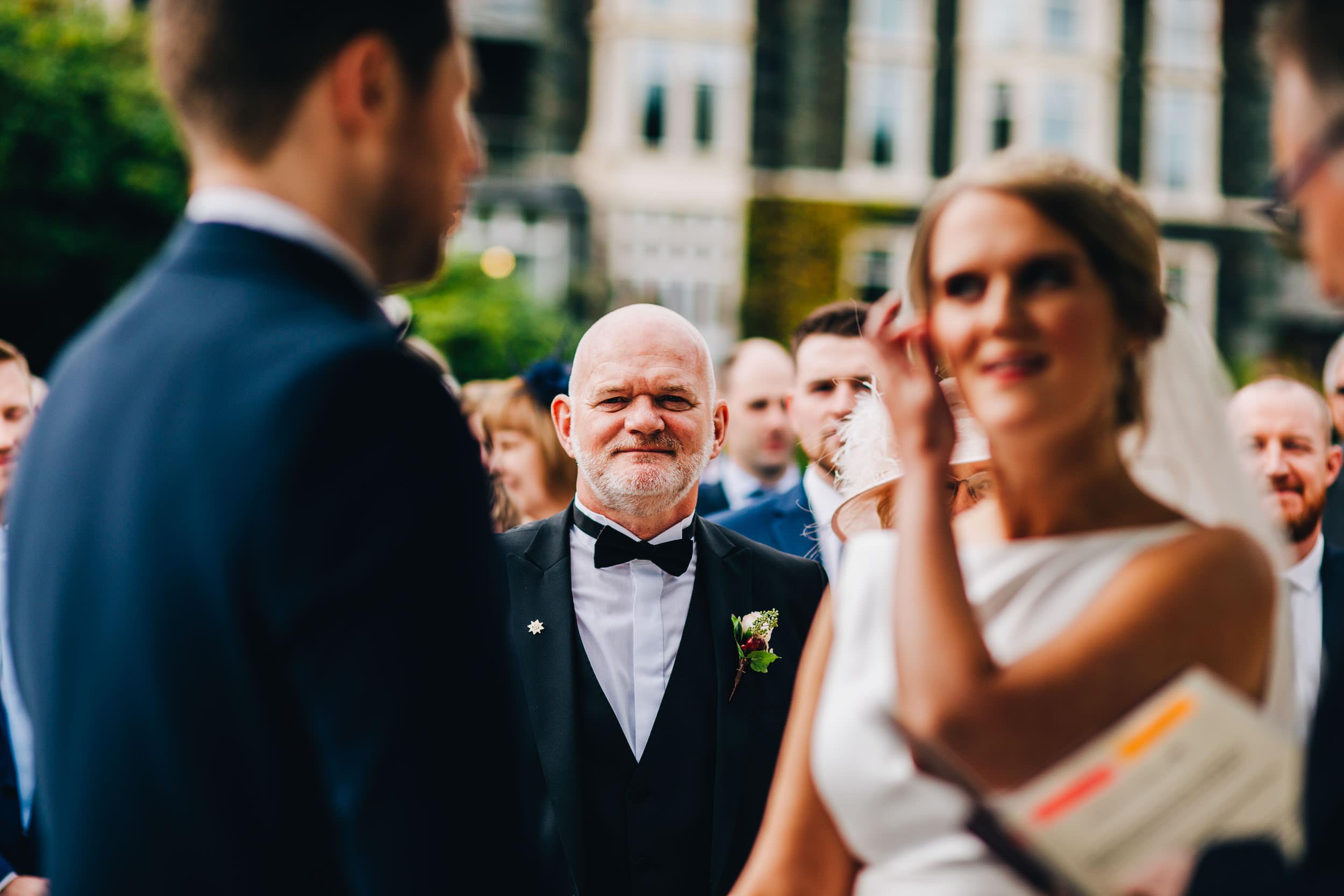 proud dad - Inn on the lake wedding