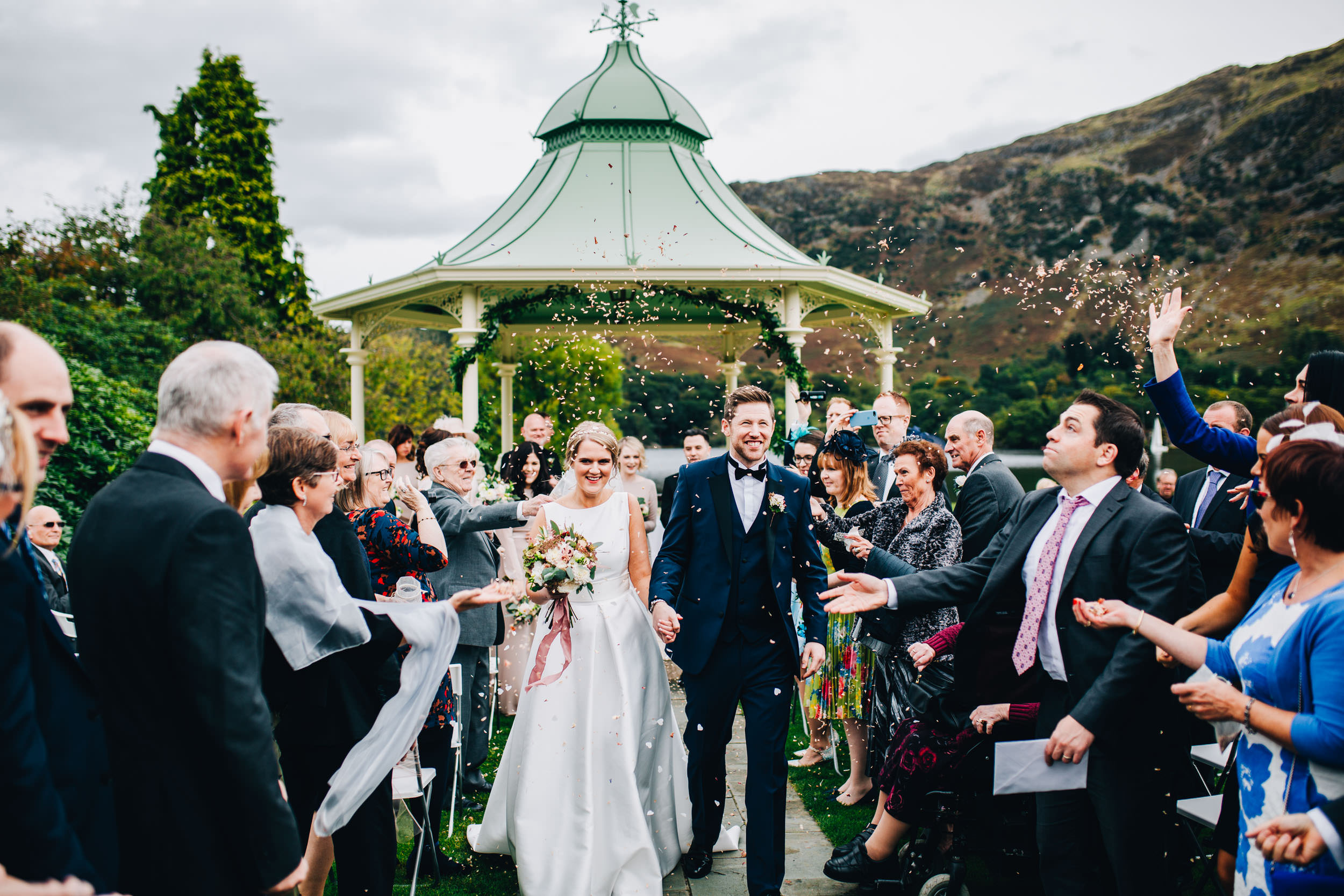 confetti - outdoor wedding ceremony