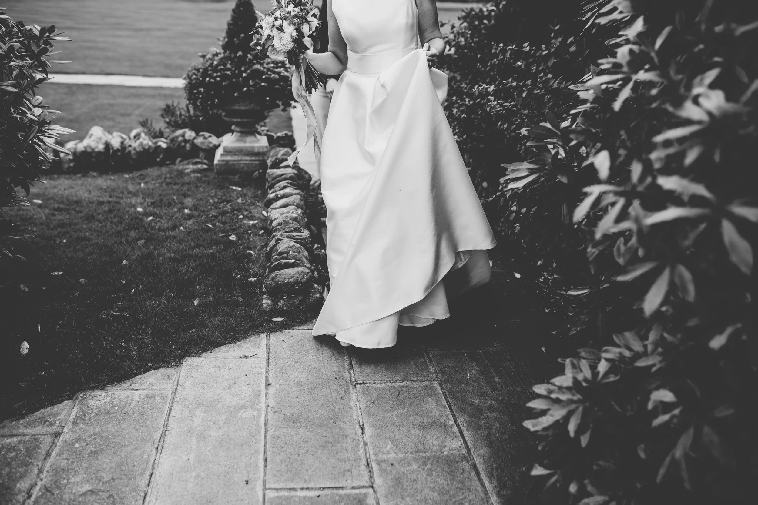 stylish bride at lake district wedding