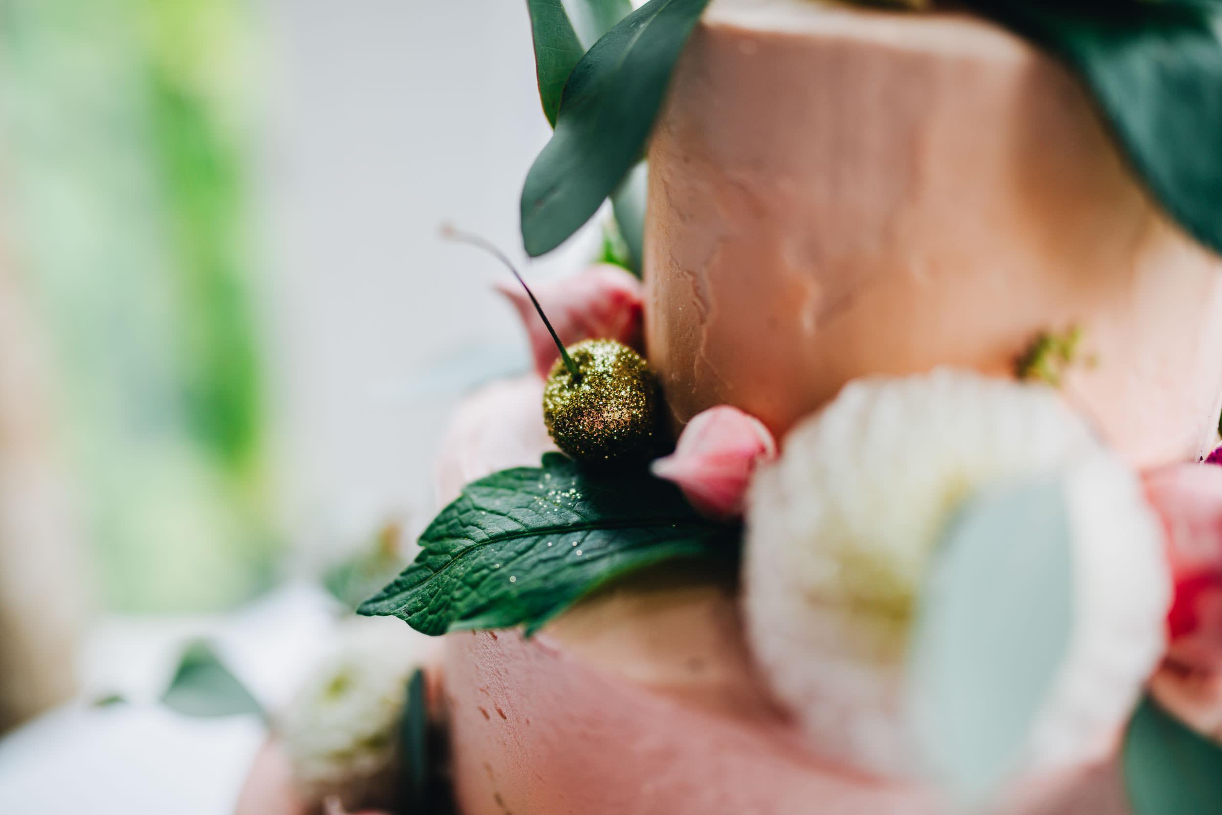 handmade wedding cake in the Lake District
